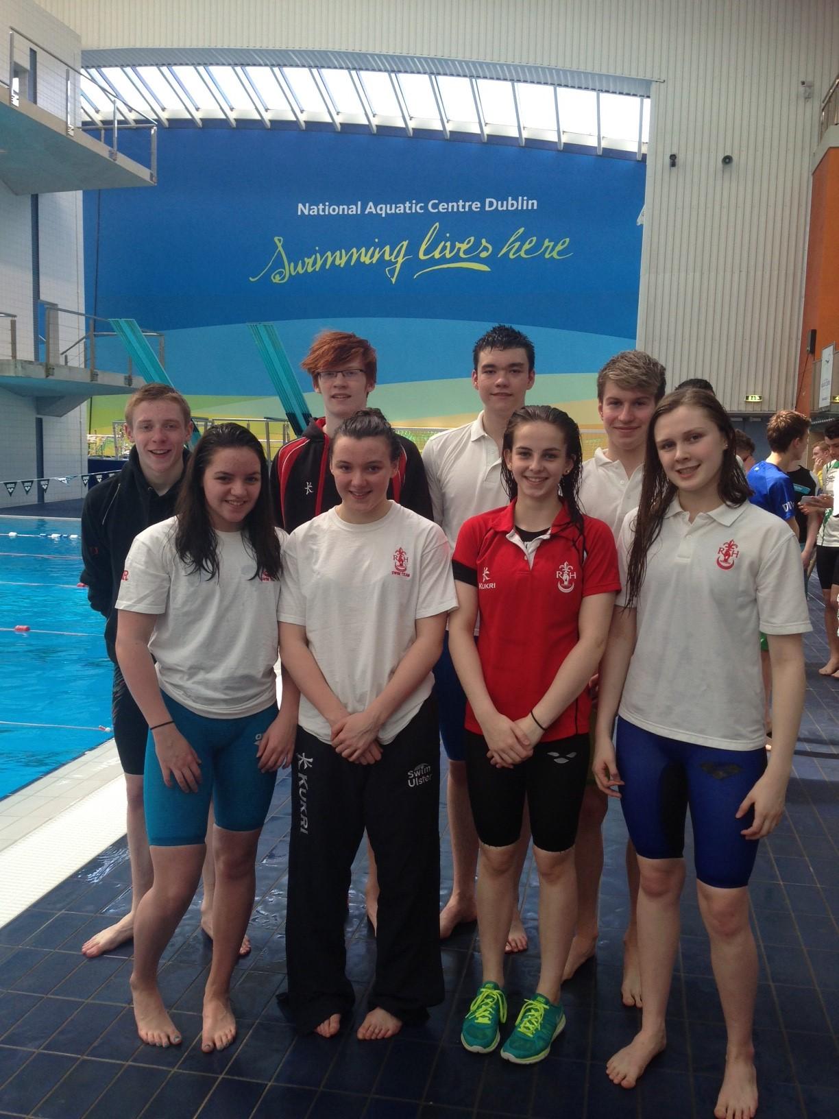 Regent House swimmers at the NAC, Dublin.JPG