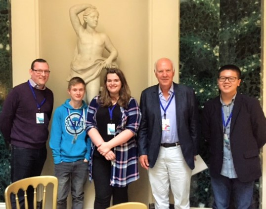 Mr Lowry and A level students meet celebrated documentary maker, Michael Cockerell
