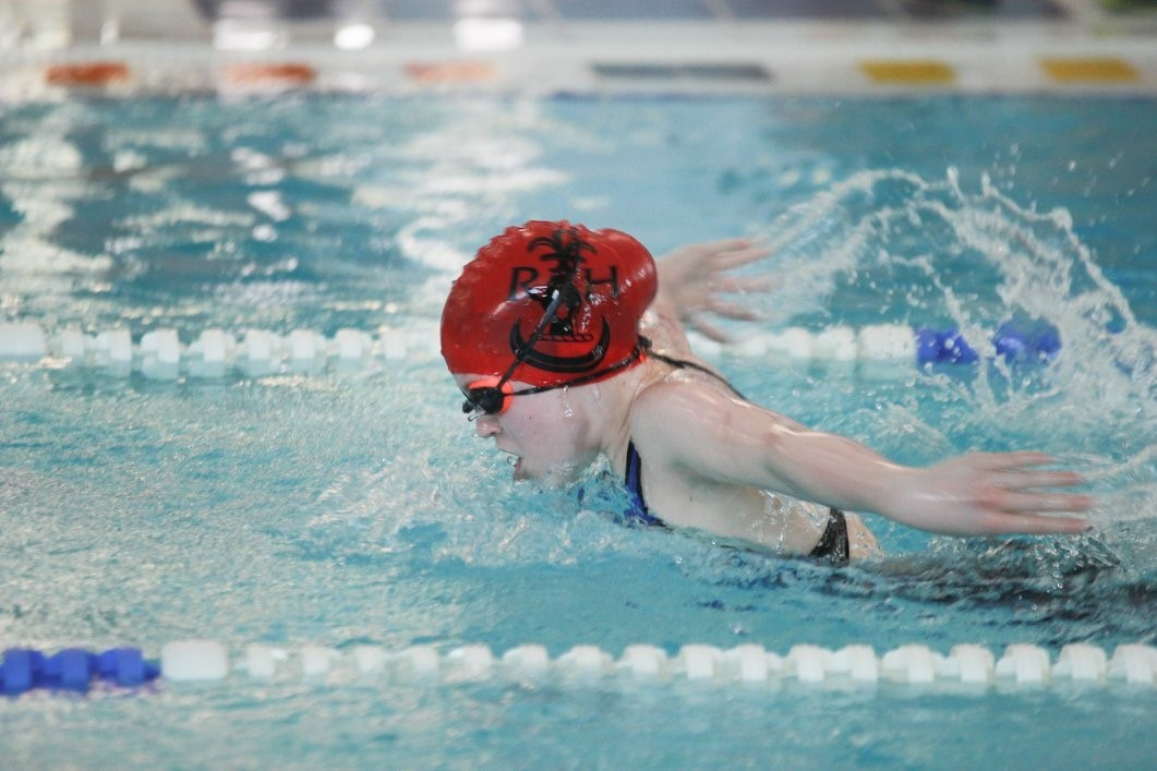 Sofie Heasley (Year 8) competing in the Junior 100m Butterfly.jpg