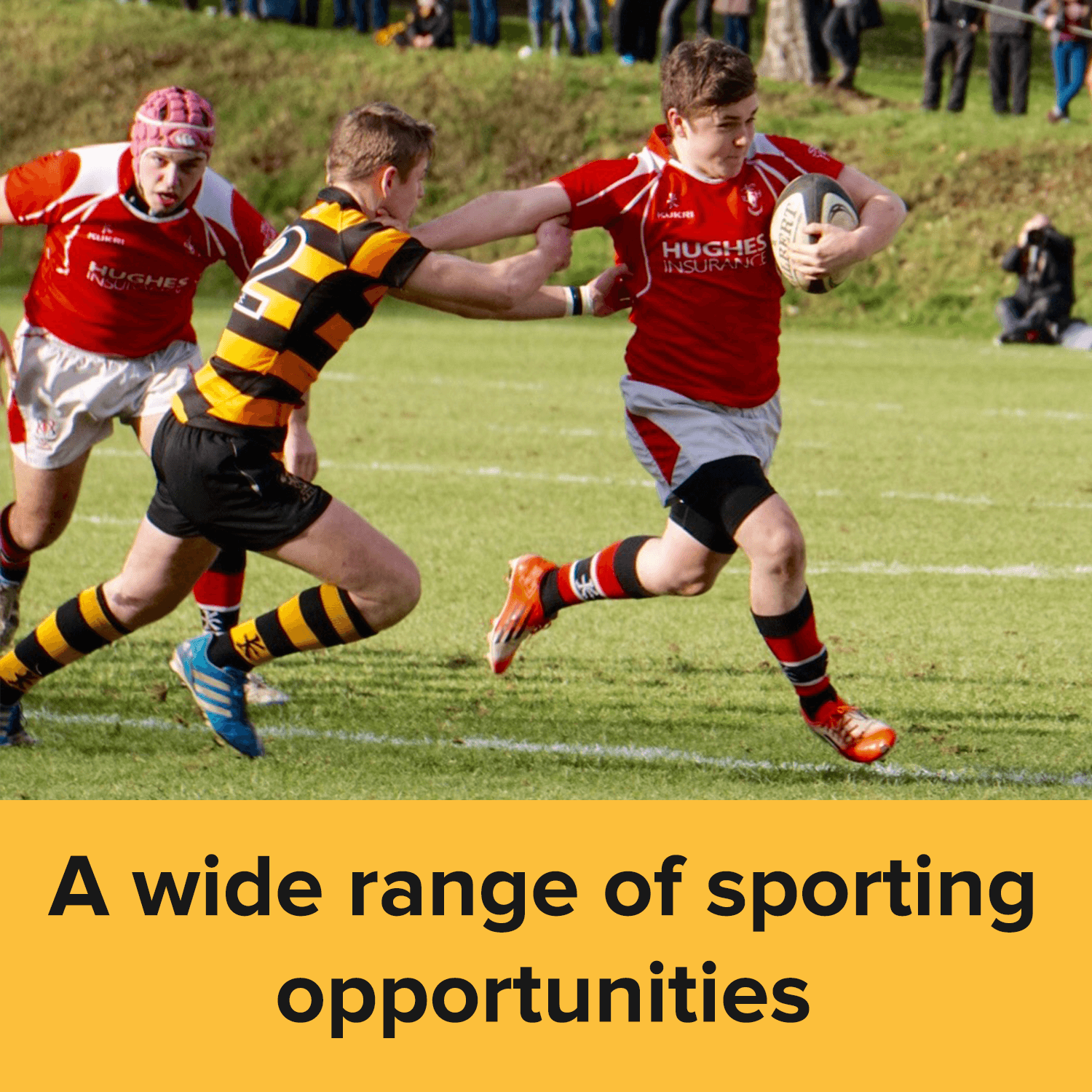 A wide range of sporting opportunities