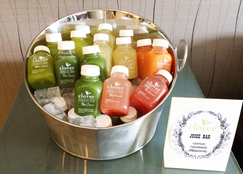 """JUICE. Mamas loved Clover's""""Menage-a-Trois"""" and """"The Quench"""" flavors."""