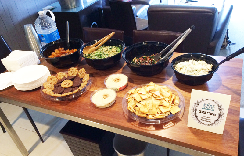 Members enjoyed an exclusive feast catered by Whole Foods.