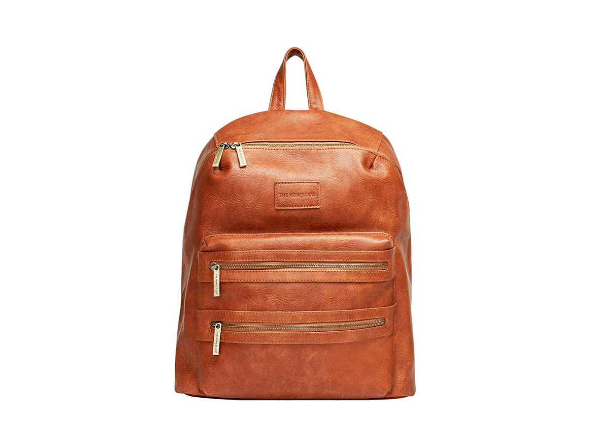 Honest Co. City Faux Leather Backpack in Cognac , $150