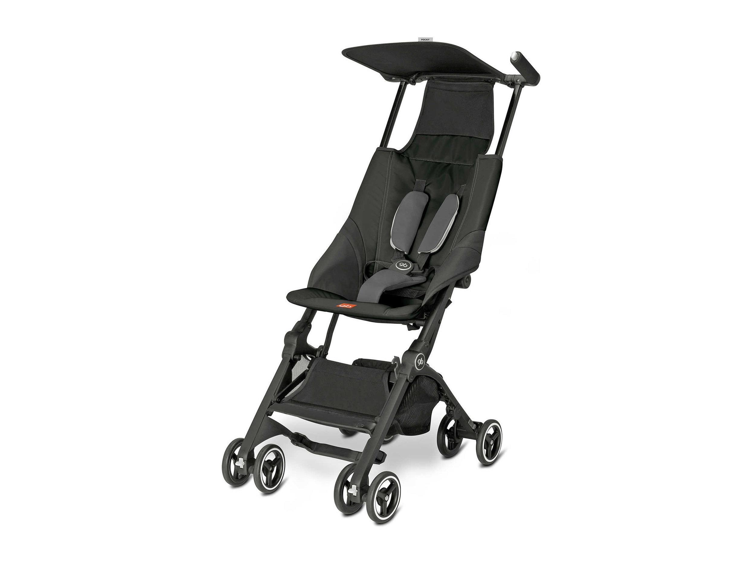 GB Pockit Stroller in Monument Black , $250