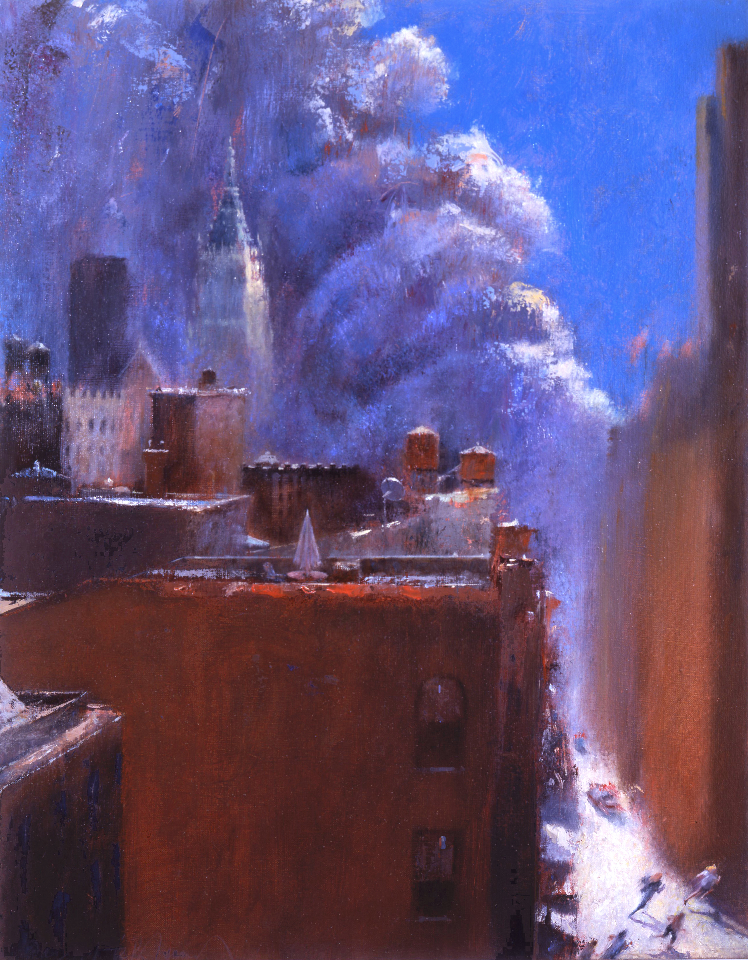 "Studio View, 9/11  26"" x 20"" Oil on Linen  (SOLD)"