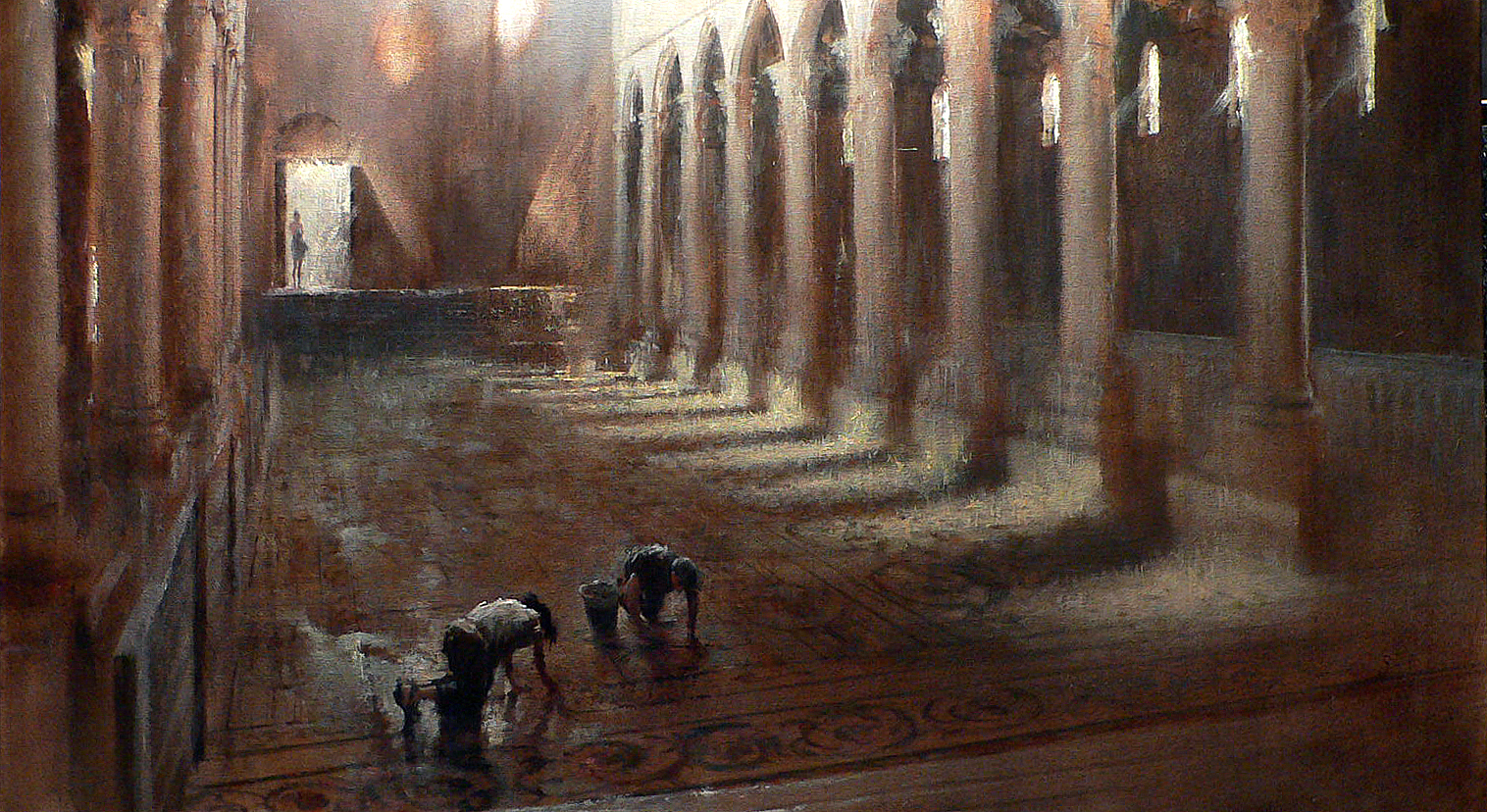 "Light of Byzantium  30"" x 48"" Oil on Linen  (SOLD)"