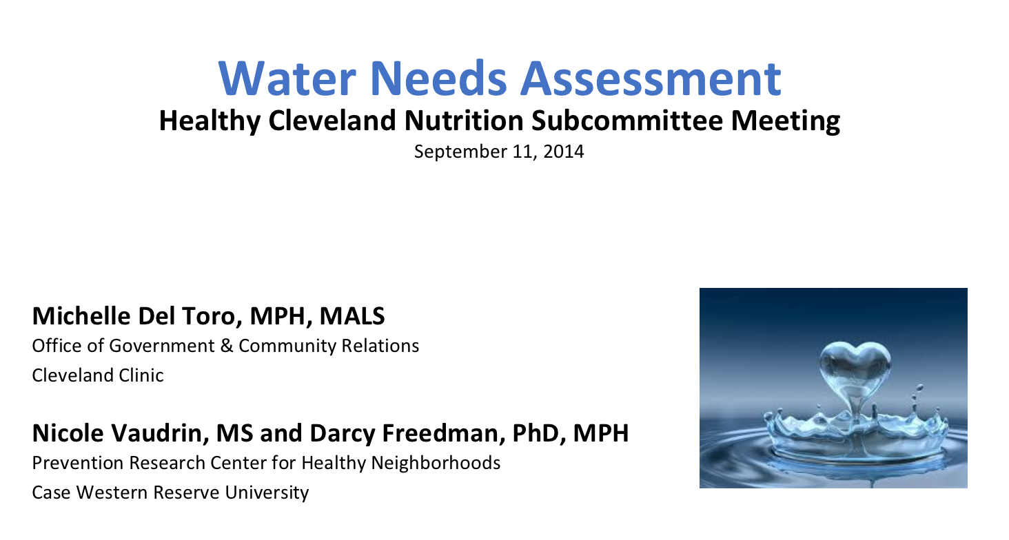 Click here to view a needs assessment presentation about water access in our schools.