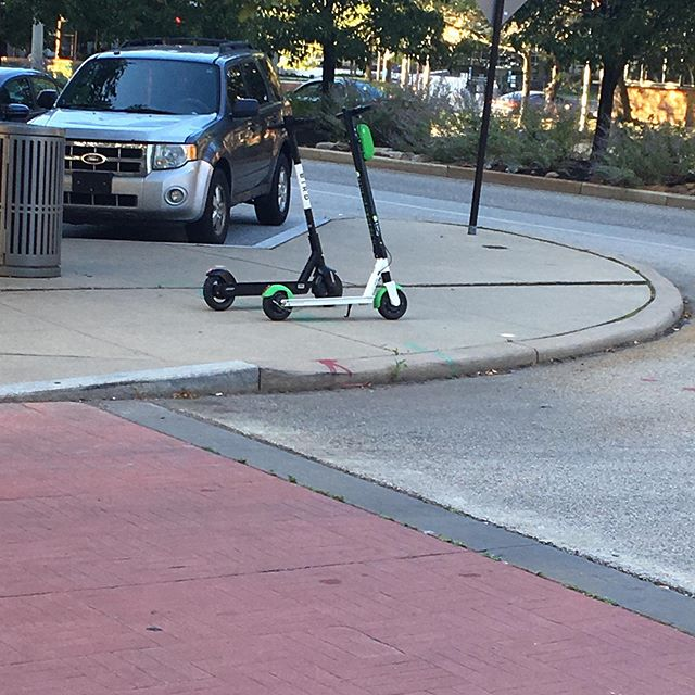 Saw a couple of the new scooters parked outside the public health department! Have you tried them yet?!
