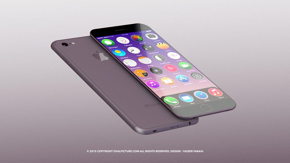내년에 발매될 아이폰 7의 생김새는 아무도 몰라서 추측만 난무할 뿐이다. (디자인: Yasser Farahi)