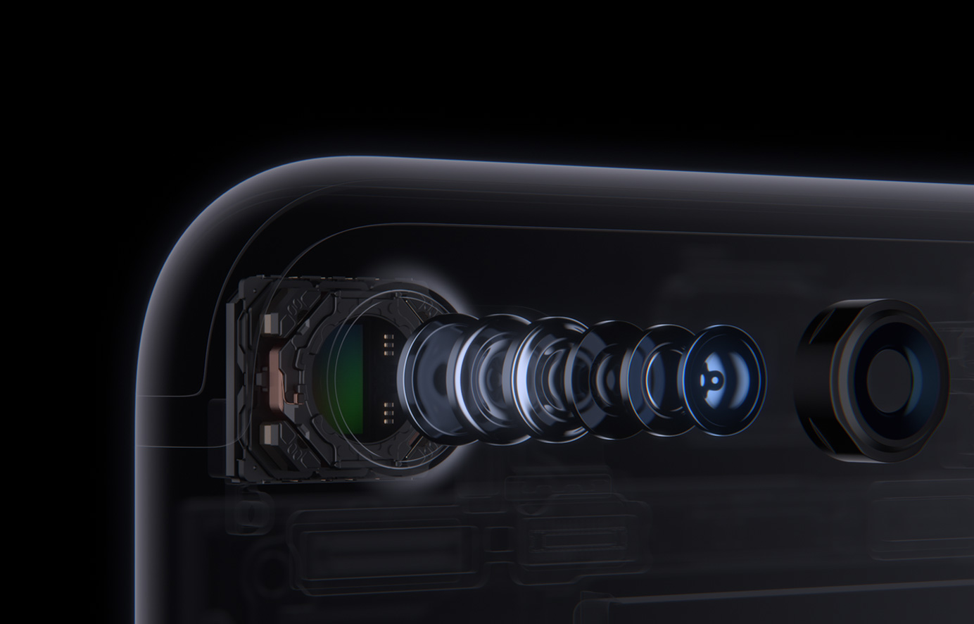 아이폰 7의 카메라 시스템.