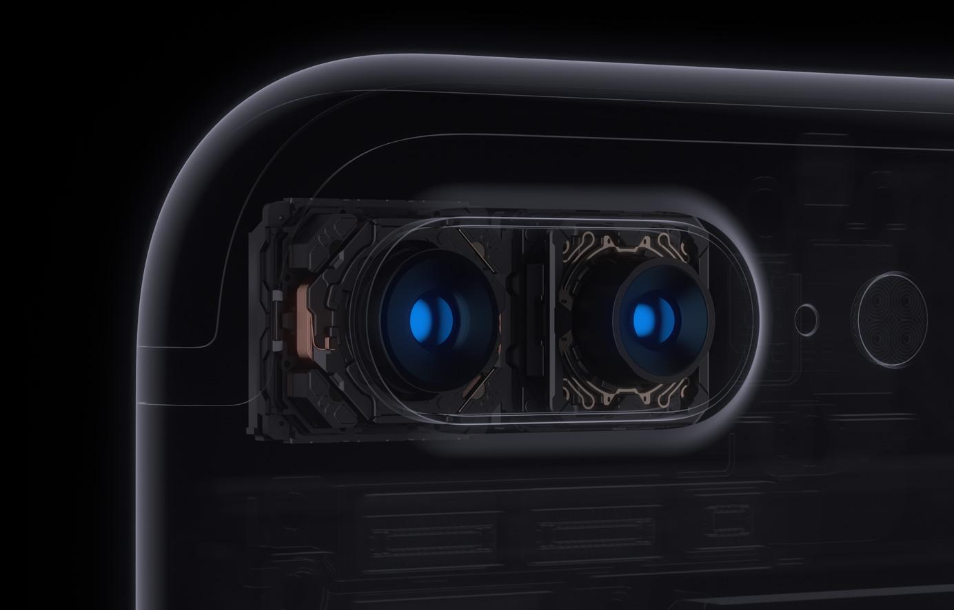 아이폰 7 플러스의 카메라 시스템.