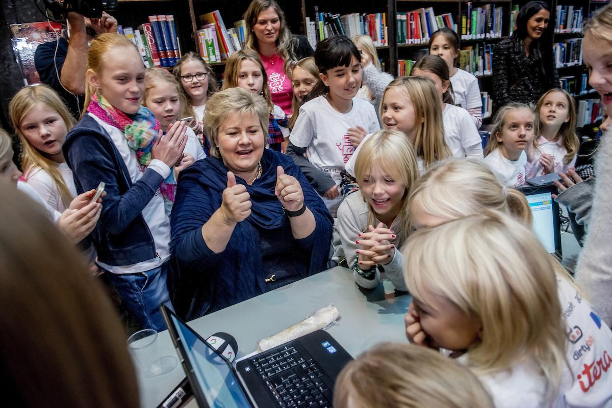 Statsministeren Erna Solberg skapte stor glede under dagen.