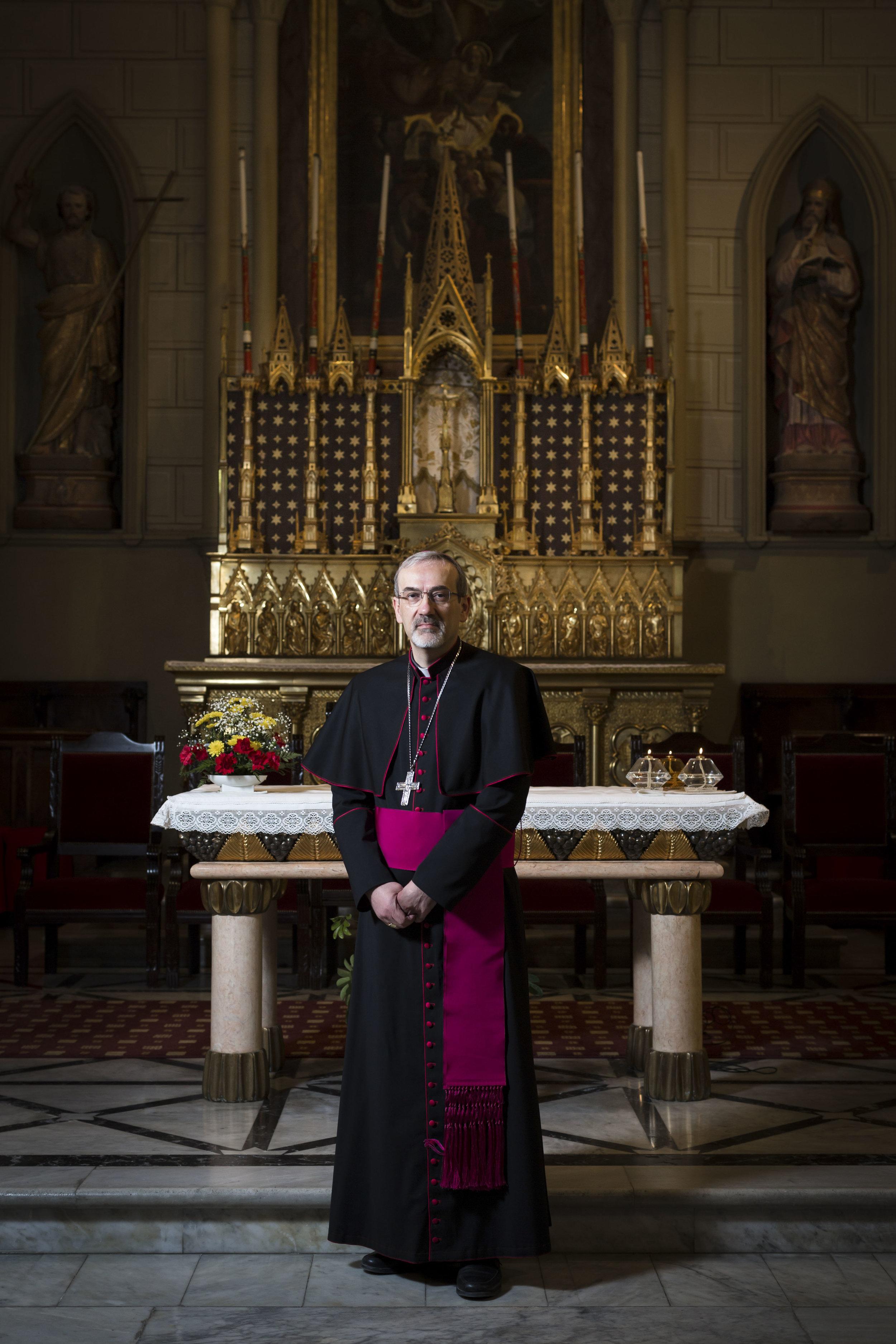 Portrait of the Most Rev. Pierbattista Pizzaballa, Apostolic Administrator Latin Patriarchate of Jerusalem.