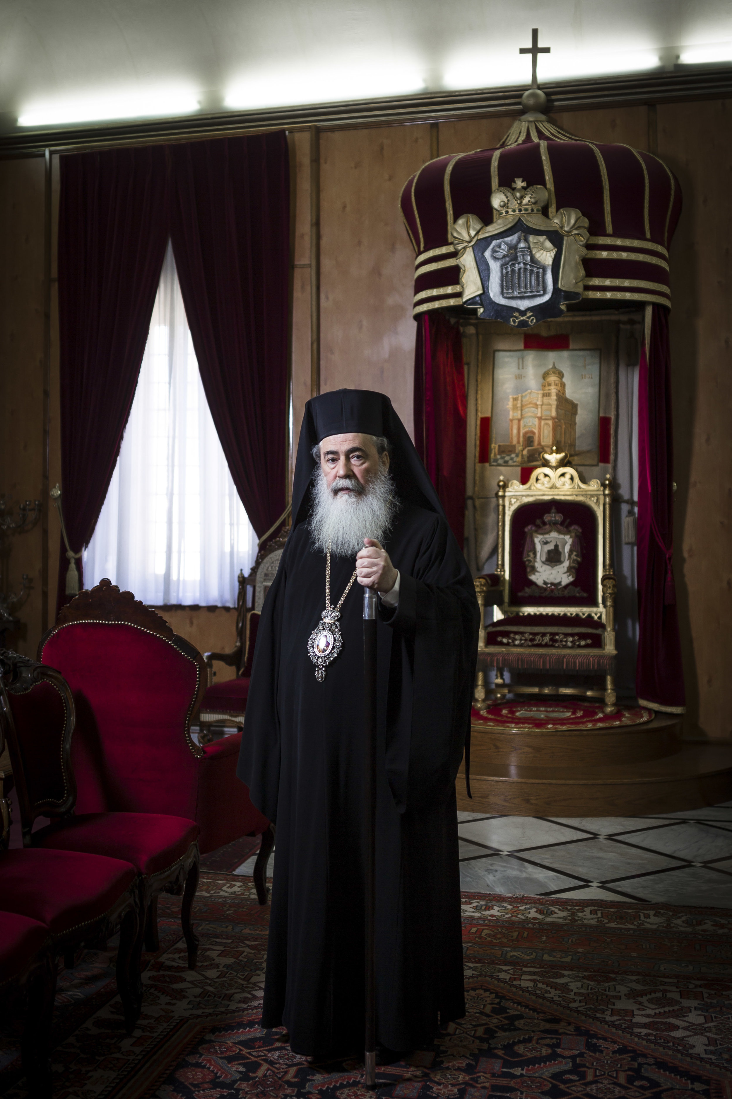 Portrait of Theophilos III, Patriarch of the Greek Orthodox Patriarchate of Jerusalem