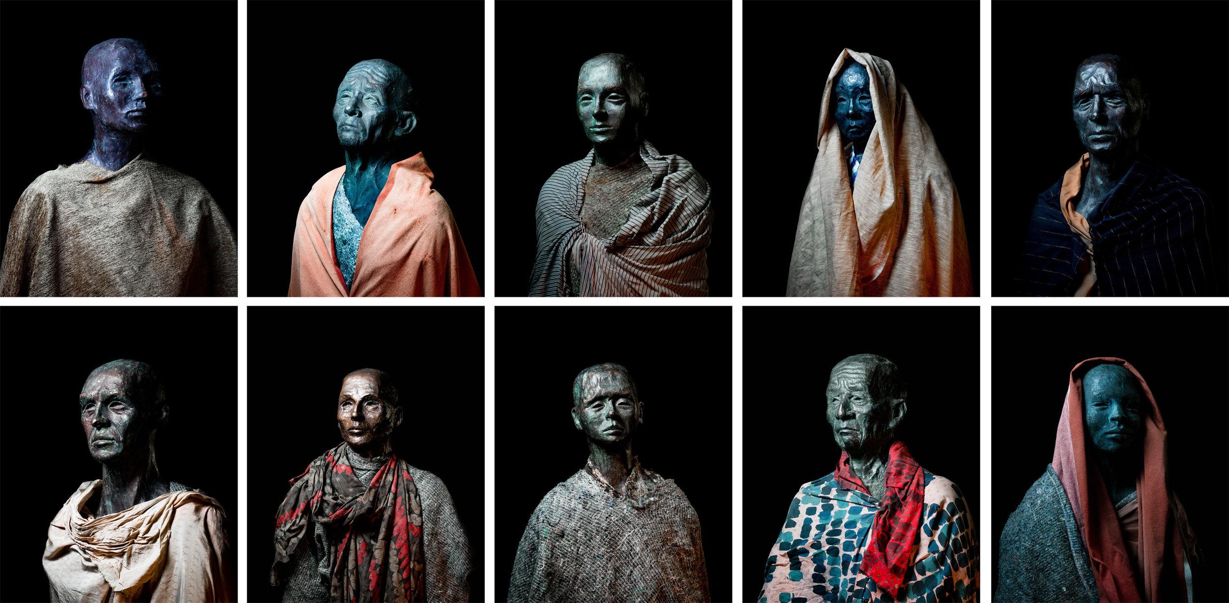 "climate refugees || sculptures by Jens Galshiøt || Part of the project ""Mit Sicherheit gut ankommen - ein sozial-kulturelles Schiffsprojekt"" www.msgan.de"