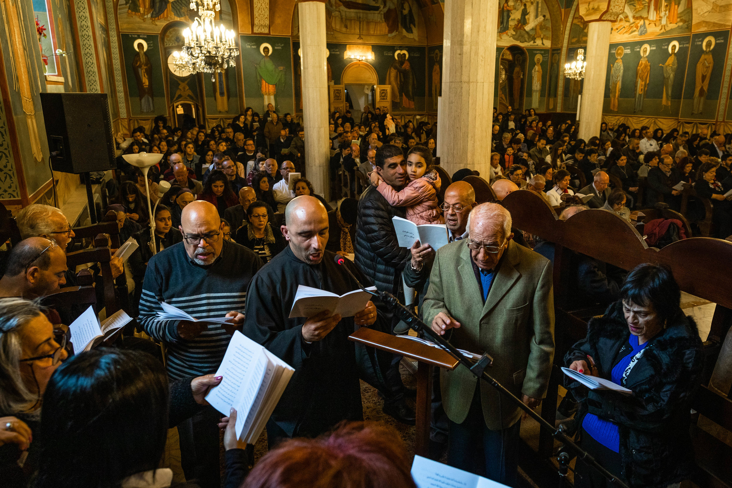 Greek Melkite Service on Easter in the   Melkite   Church   Jerusalem