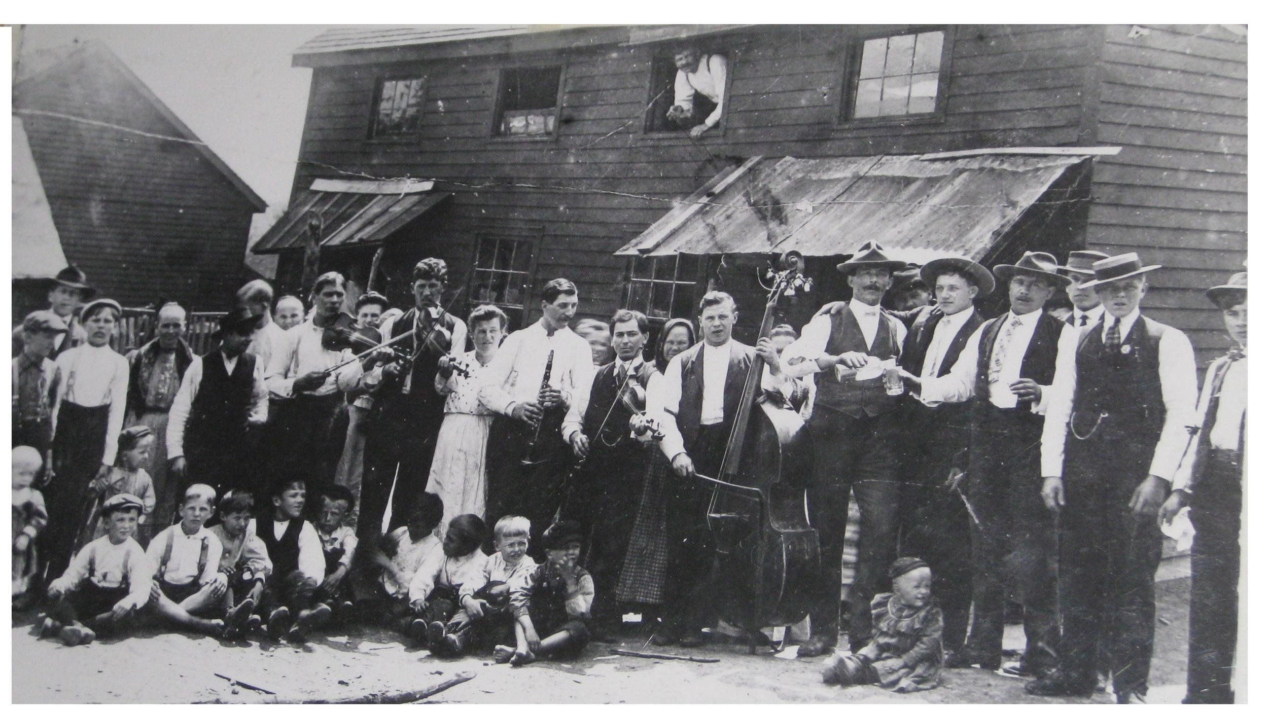 Ruthenian wedding in Forestville, Pa., 1908