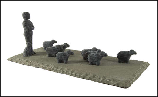 Avimelekh with Dog & Eight Lambs