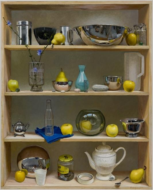 Random Shelf Life , 2004 Oil on Board 44 x 35.875 inches. Collection of Scott & Simone Lutgert, Naples, FL