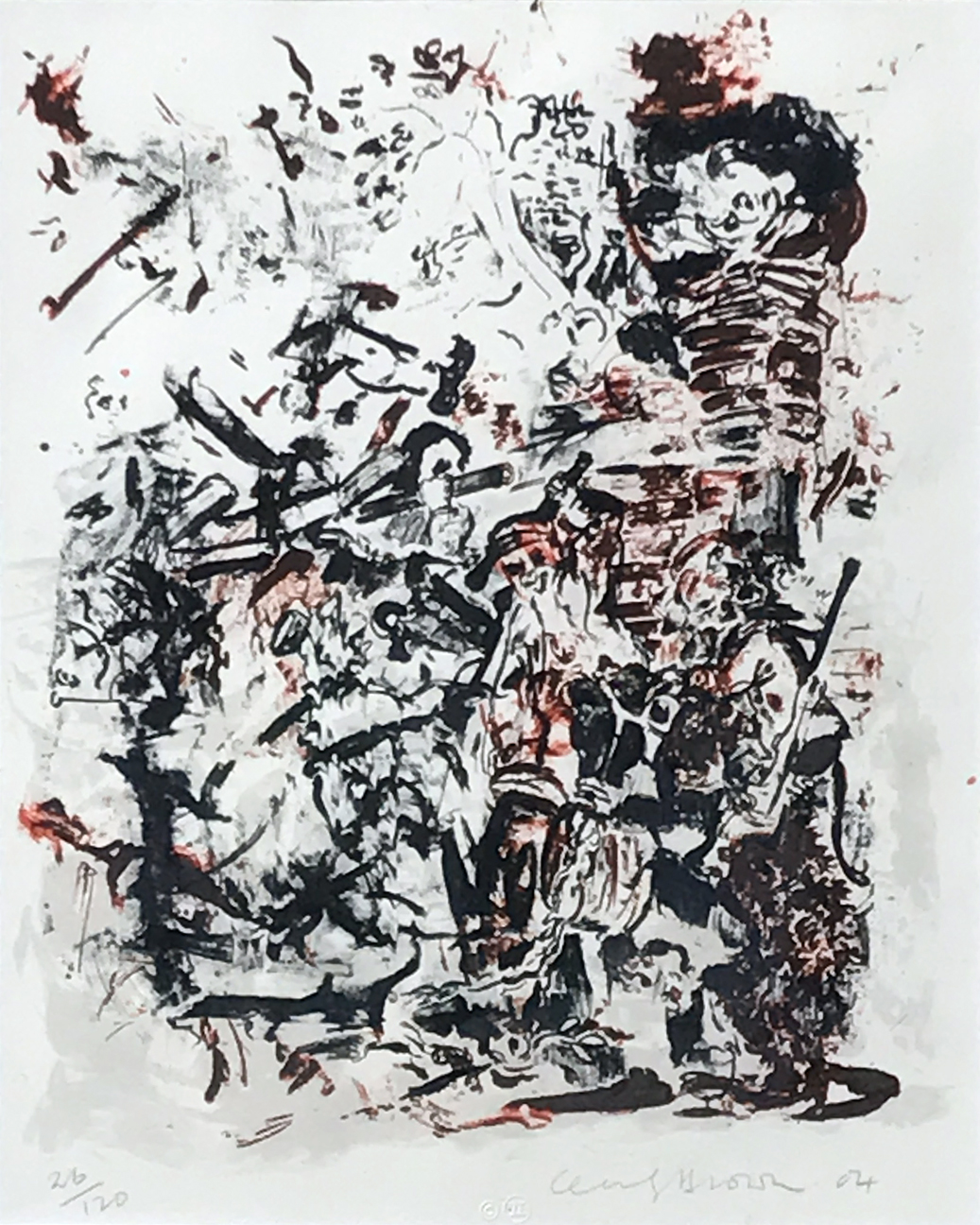 6.Cecily Brown. Untitled, 2004. Lithograph ed. 26/120, 16 ¾ x 13 in.