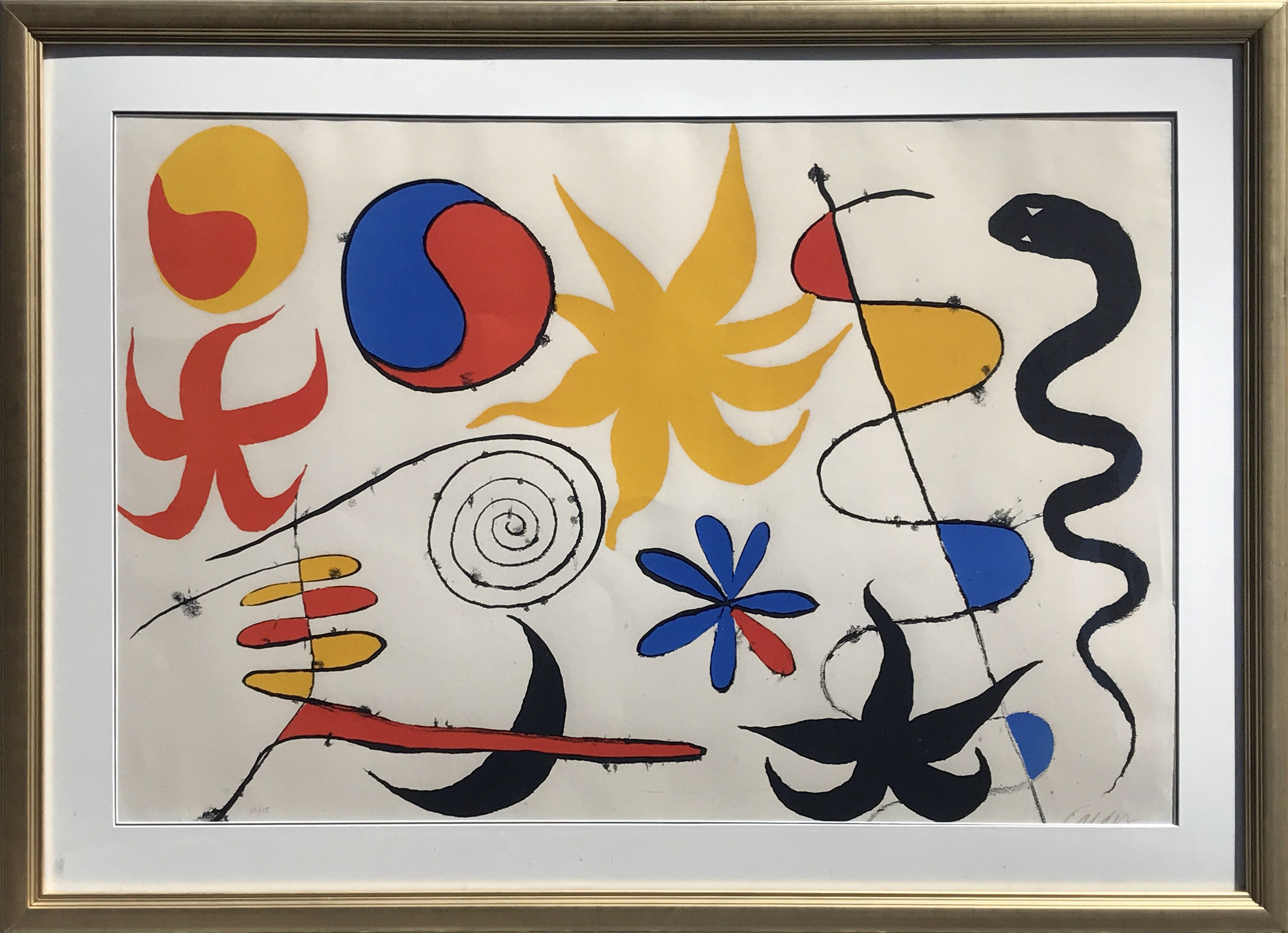 3.Alexander Calder. Serpent in the Stars, 1960. Lithograph, ed. 46/75, 28 ¼ x 42 ¼ in.