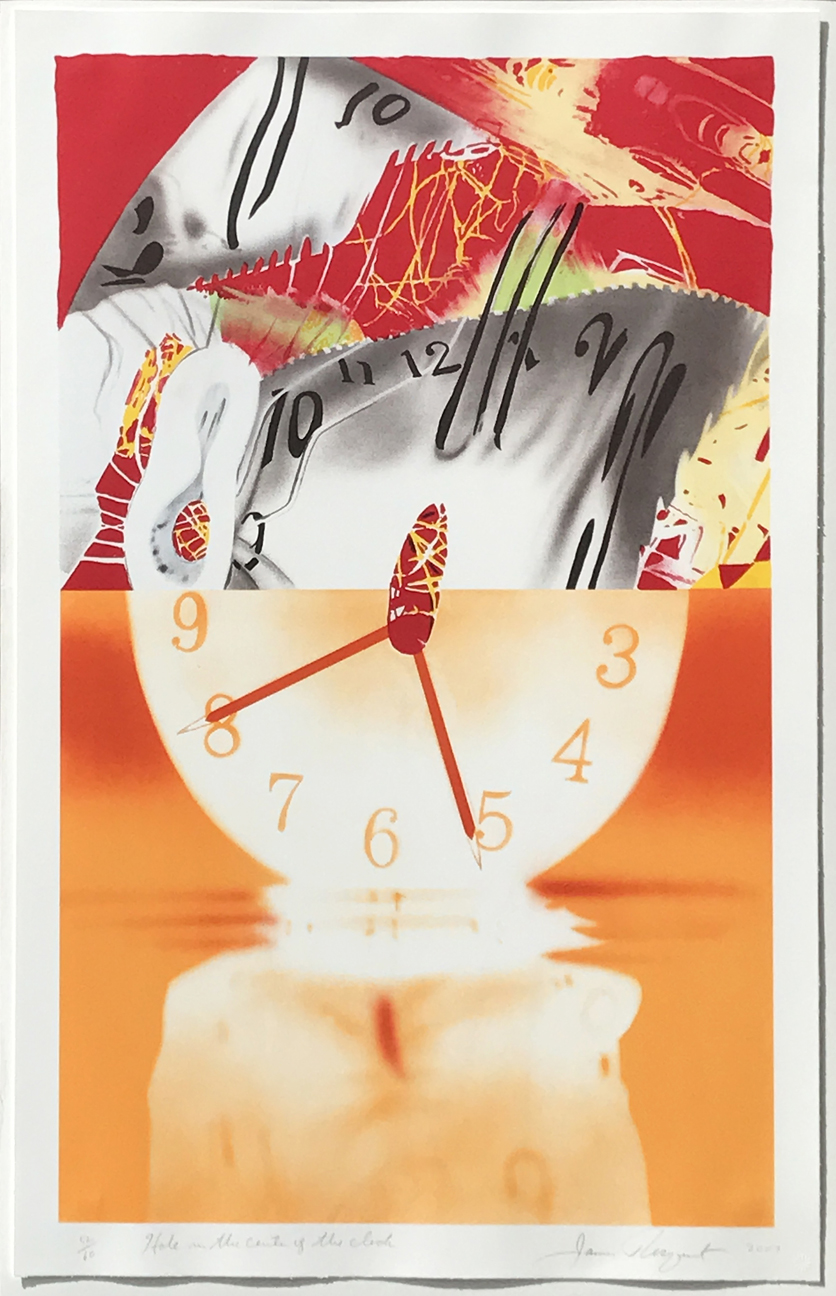 9.	James Rosenquist. Hole in the Center of the Clock, 2007. 8 color lithograph, ed. 52/60, 41 ½ x 27 in.