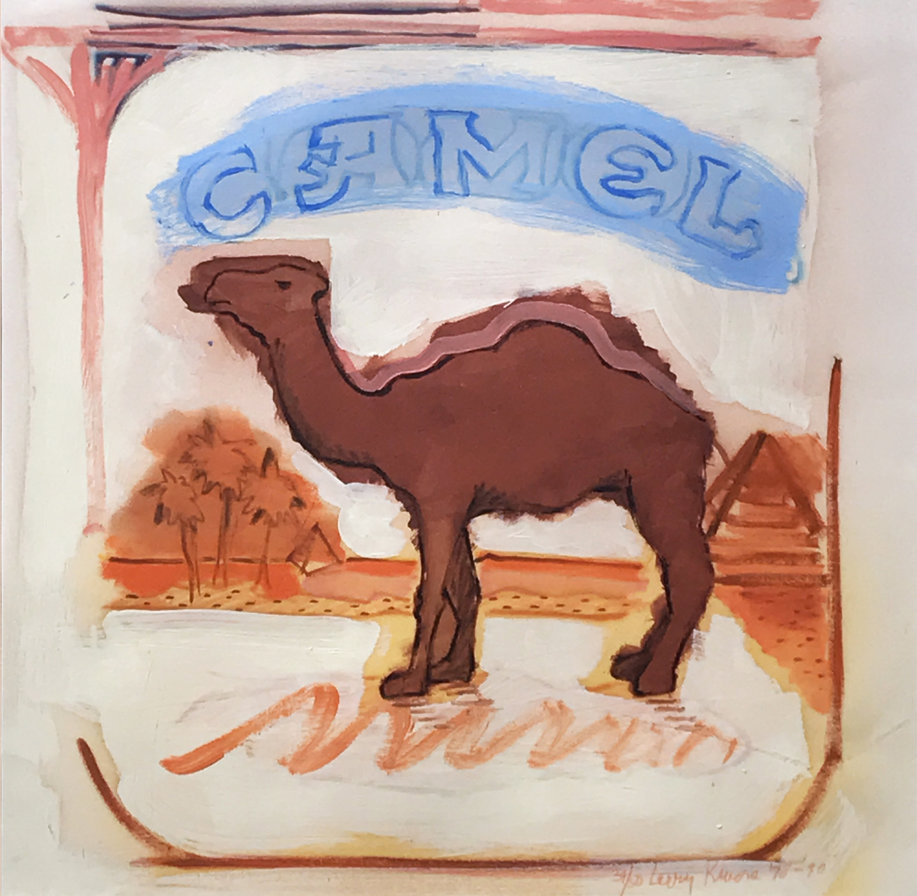 1.	Larry Rivers. Brushed Camel, 1978-1990. Silkscreen and litho with hand painting, ed. 34/50, 22 ½ x 23 ½ in.