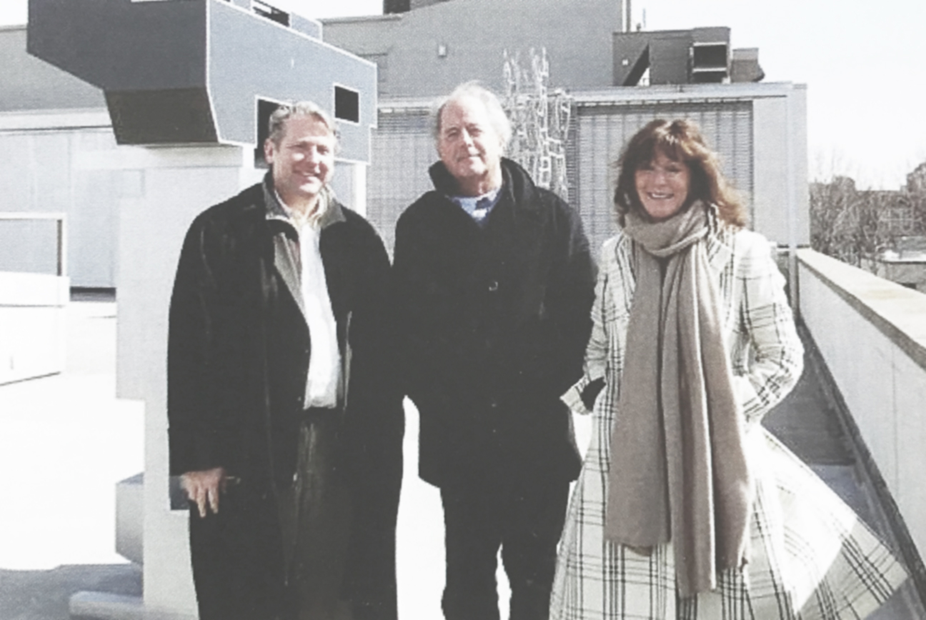 Mattatuck Museum Director Bob Burns, Don Gummer, and Jane Eckert. Image cred: Mattatuck Museum