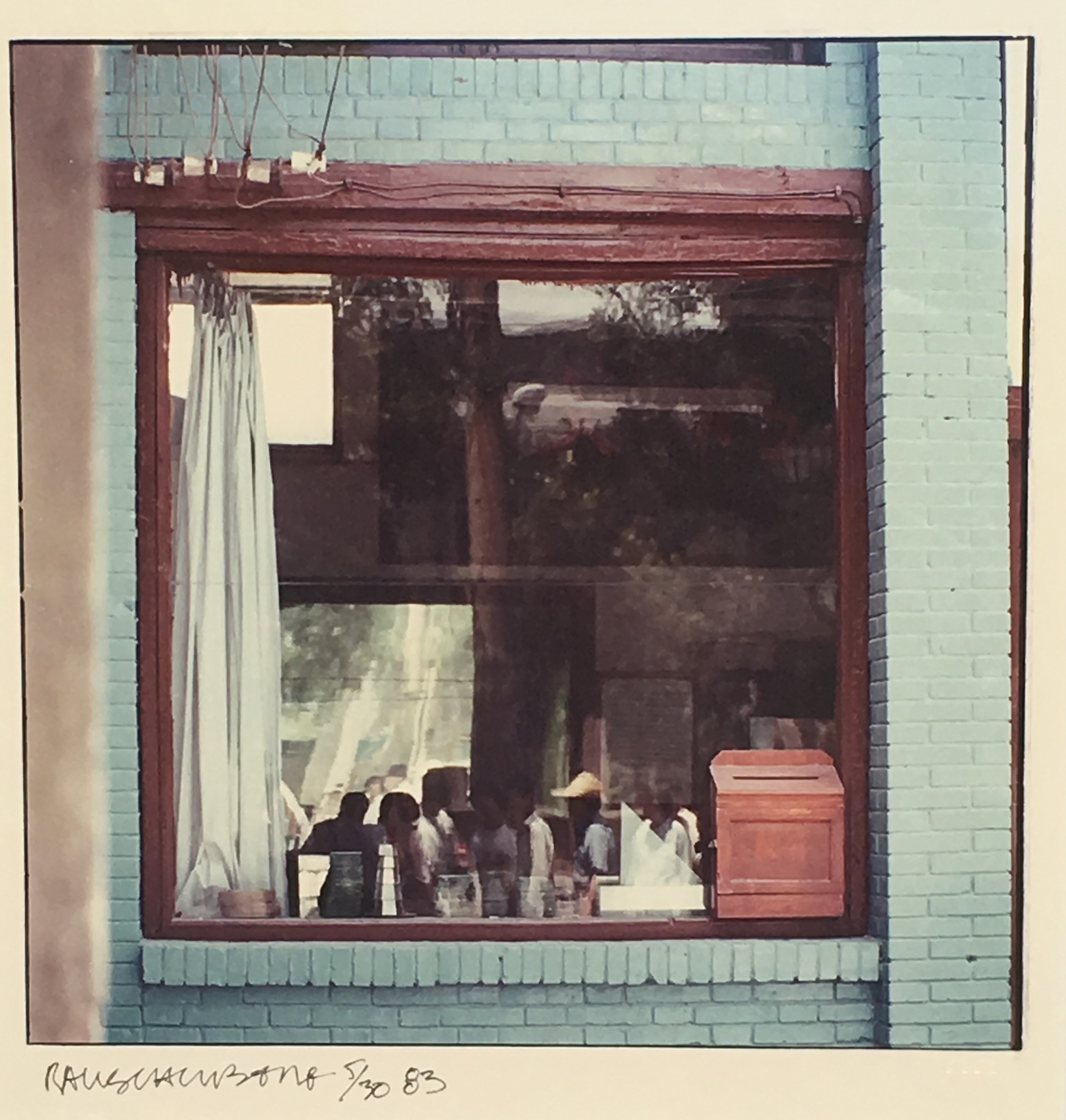 Study for Chinese Summerhall (Blue Window), 1983. 83.E015.00/30.07.