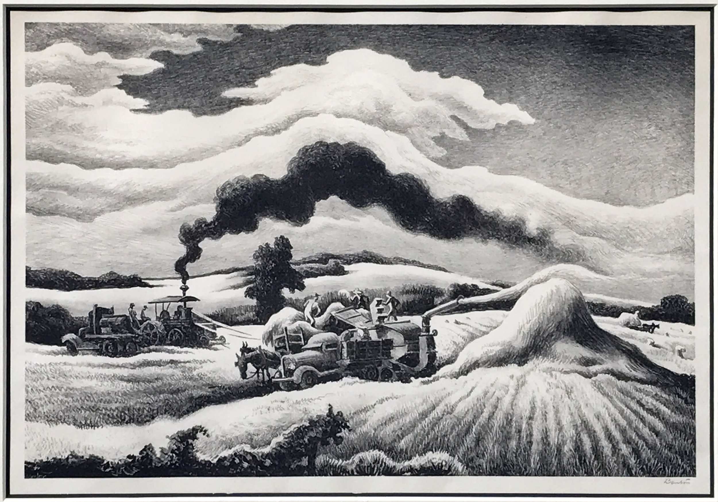 Threshing, 1941. Sold.