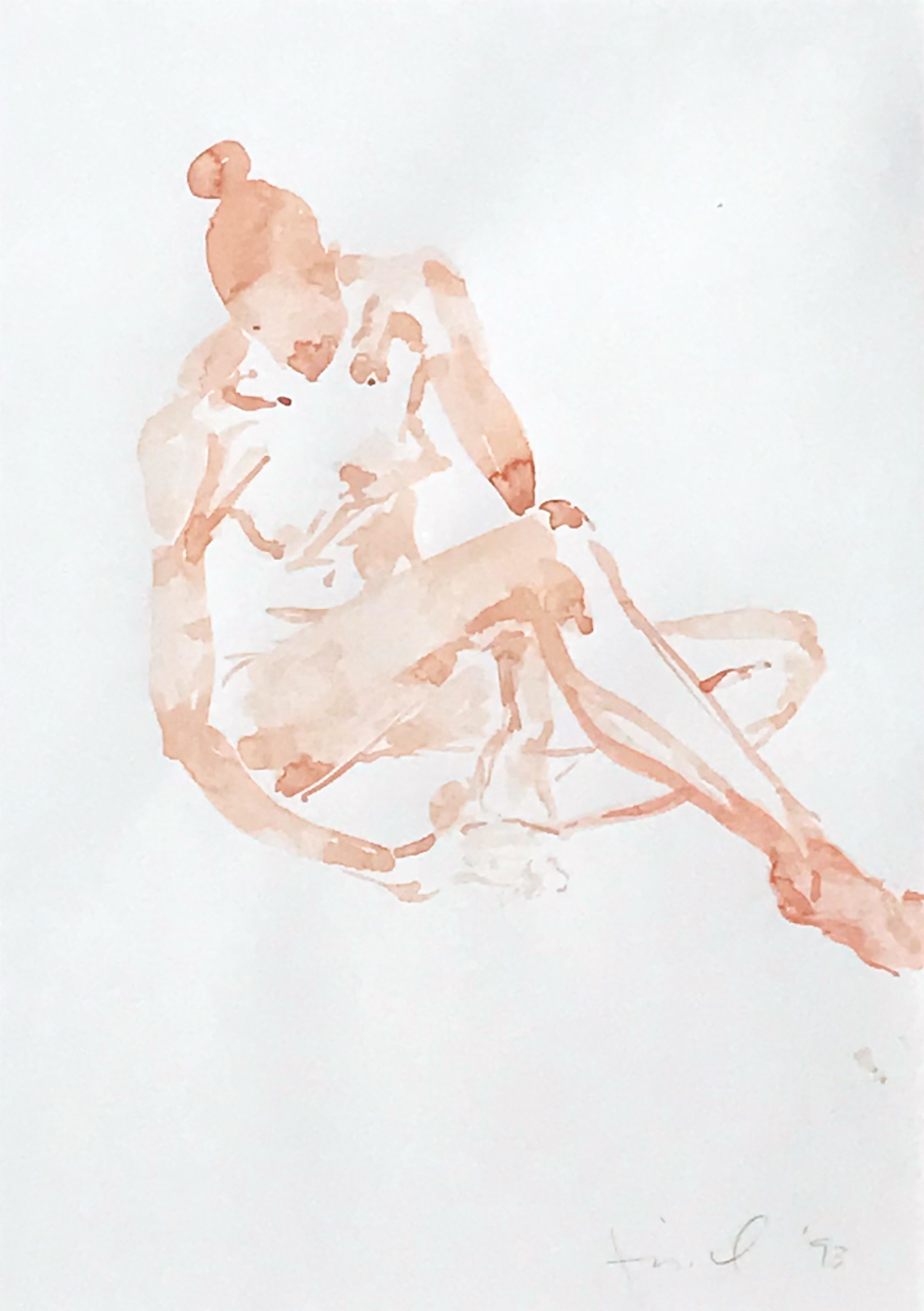 Eric Fischl. Untitled (Pink Girl Sitting), 1993.