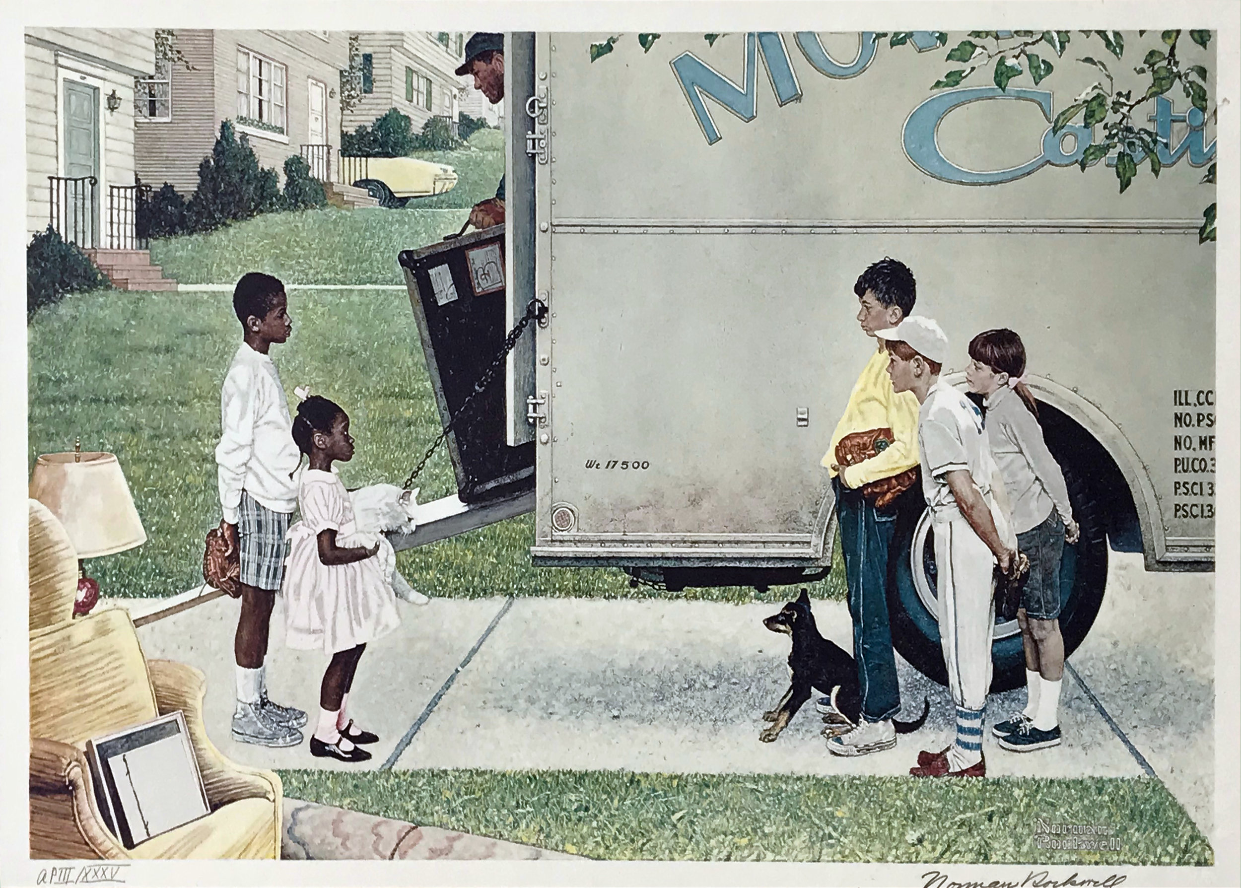 Norman Rockwell. New Kids In the Neighborhood, 1960.