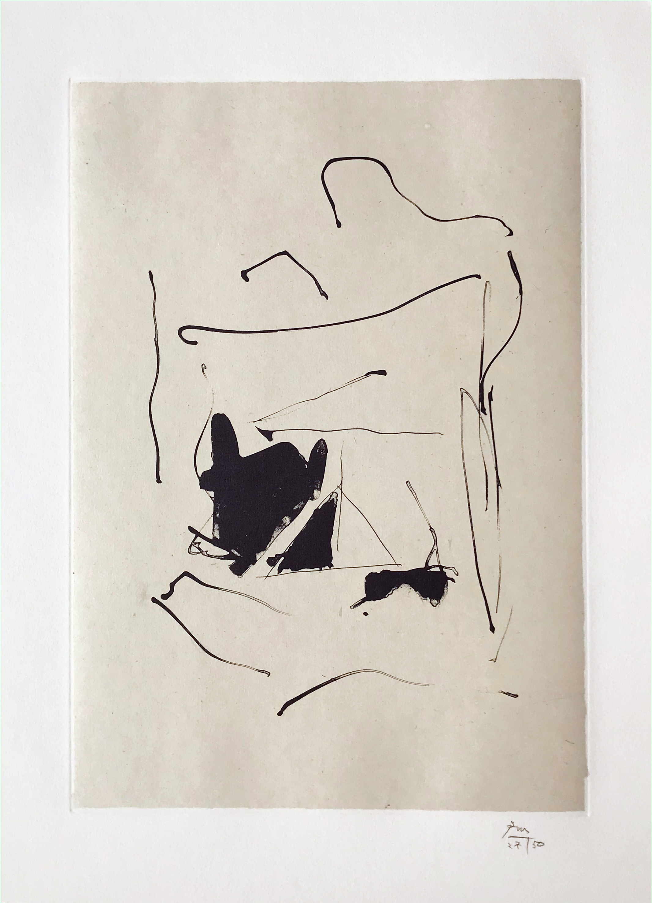 Robert Motherwell. Burnt Water, 1987.