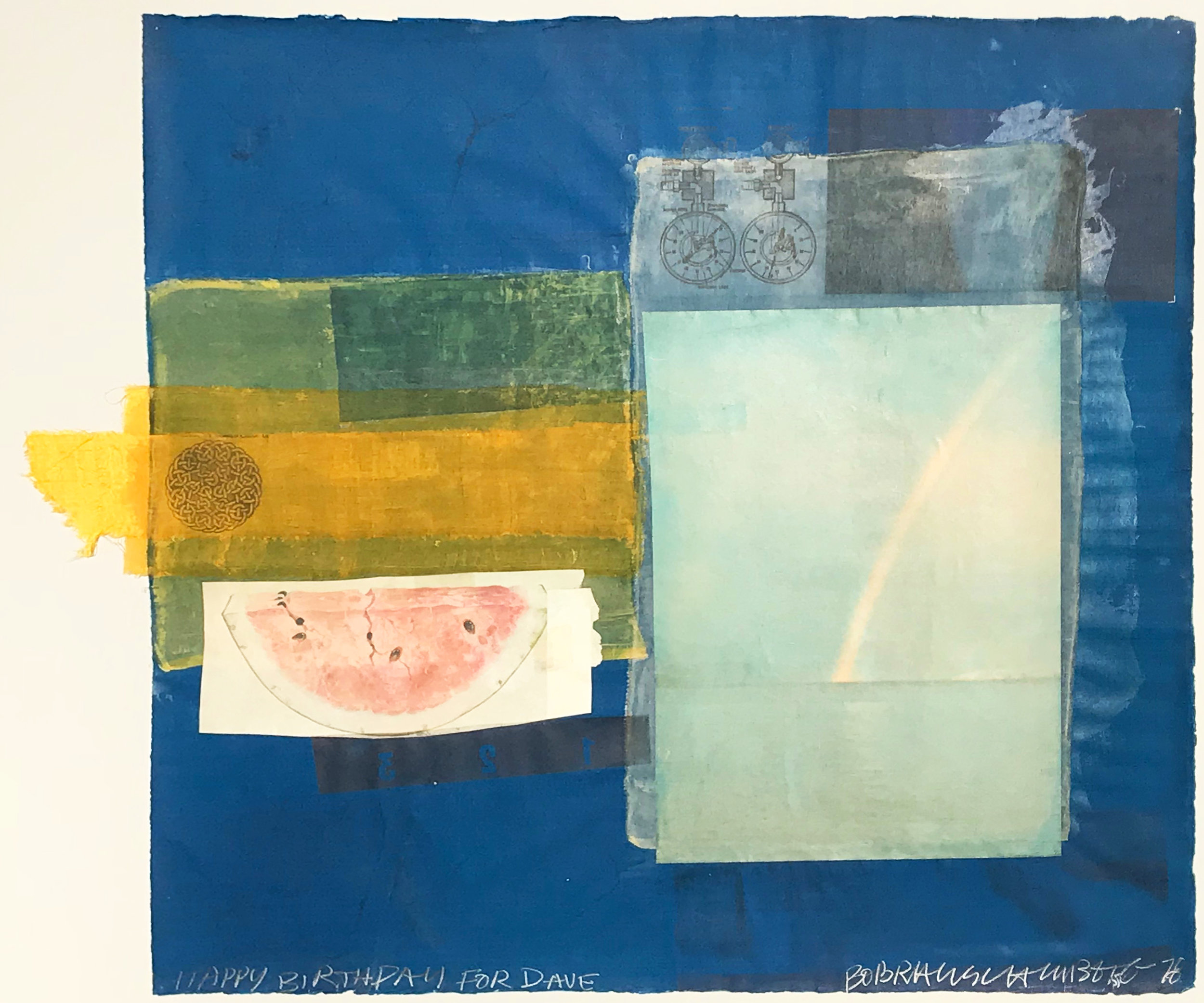 Robert Rauschenberg. Untitled (Happy Birthday for Dave), 1978. 78.D049.