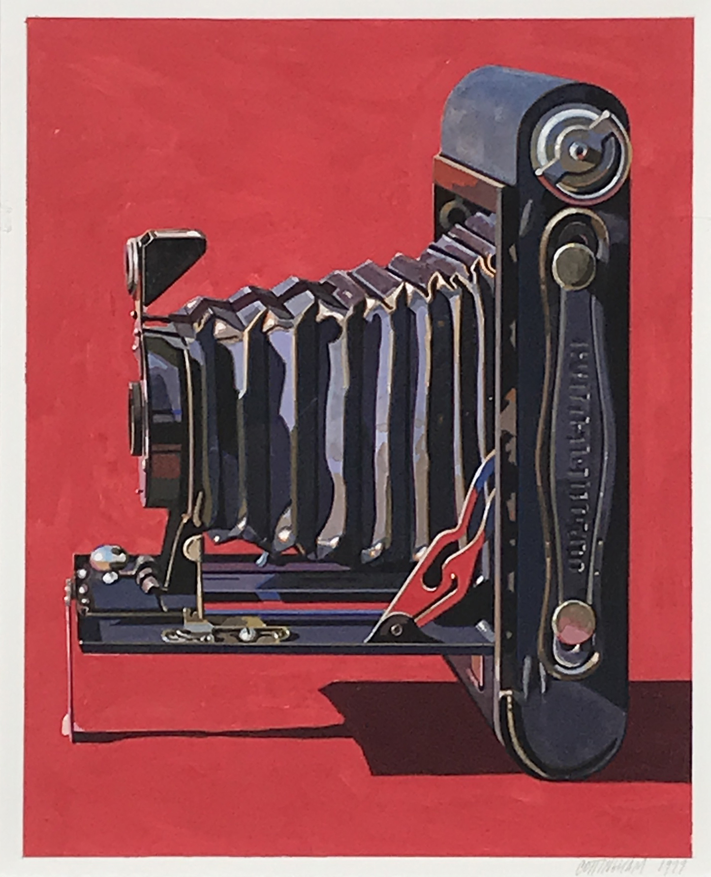 Robert Cottingham. Premo (Side View; Red Background), 1999