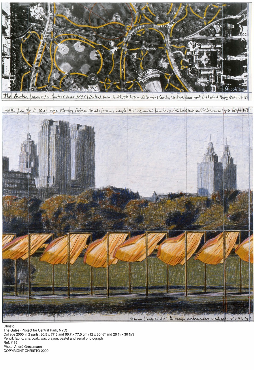 Christo. The Gates (Project for Central Park, NYC)