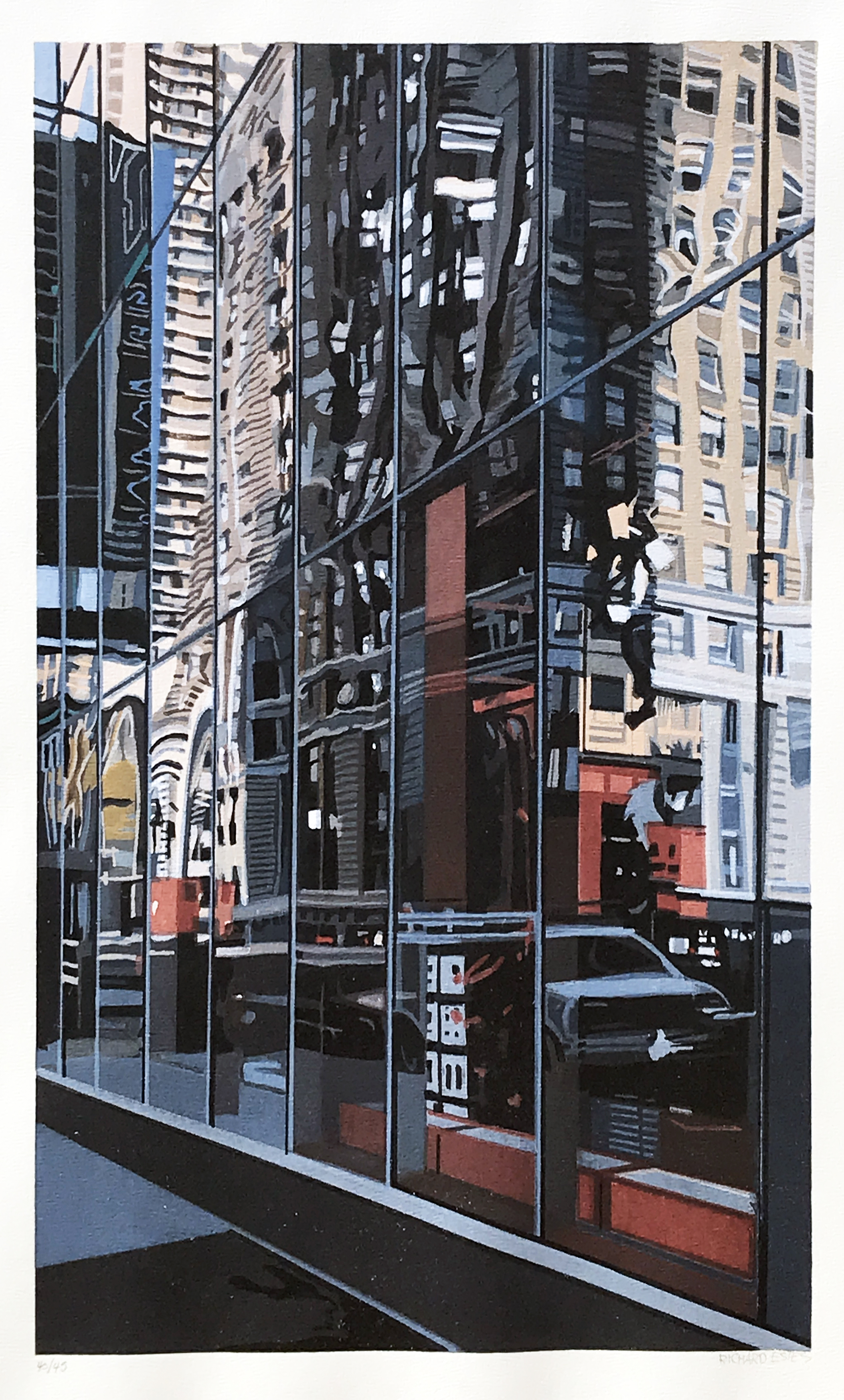 Richard Estes. Times Square, 2000.