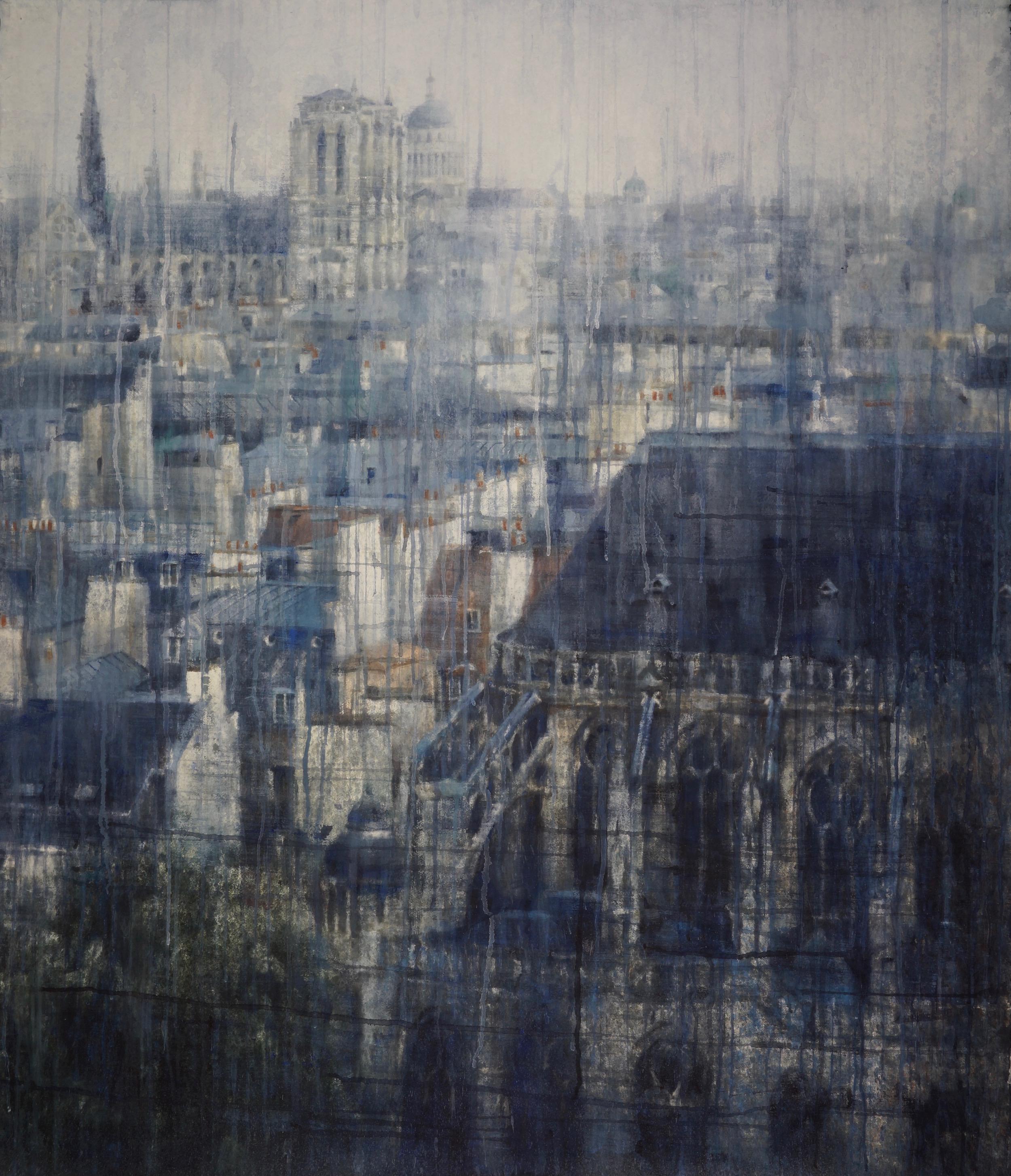 Chizuru Morii Kaplan. Parisian Rooftops III, 2019.
