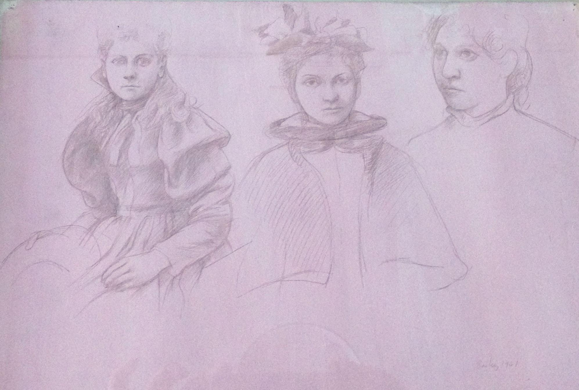 William Bailey. Untitled, Three Women, 1961.
