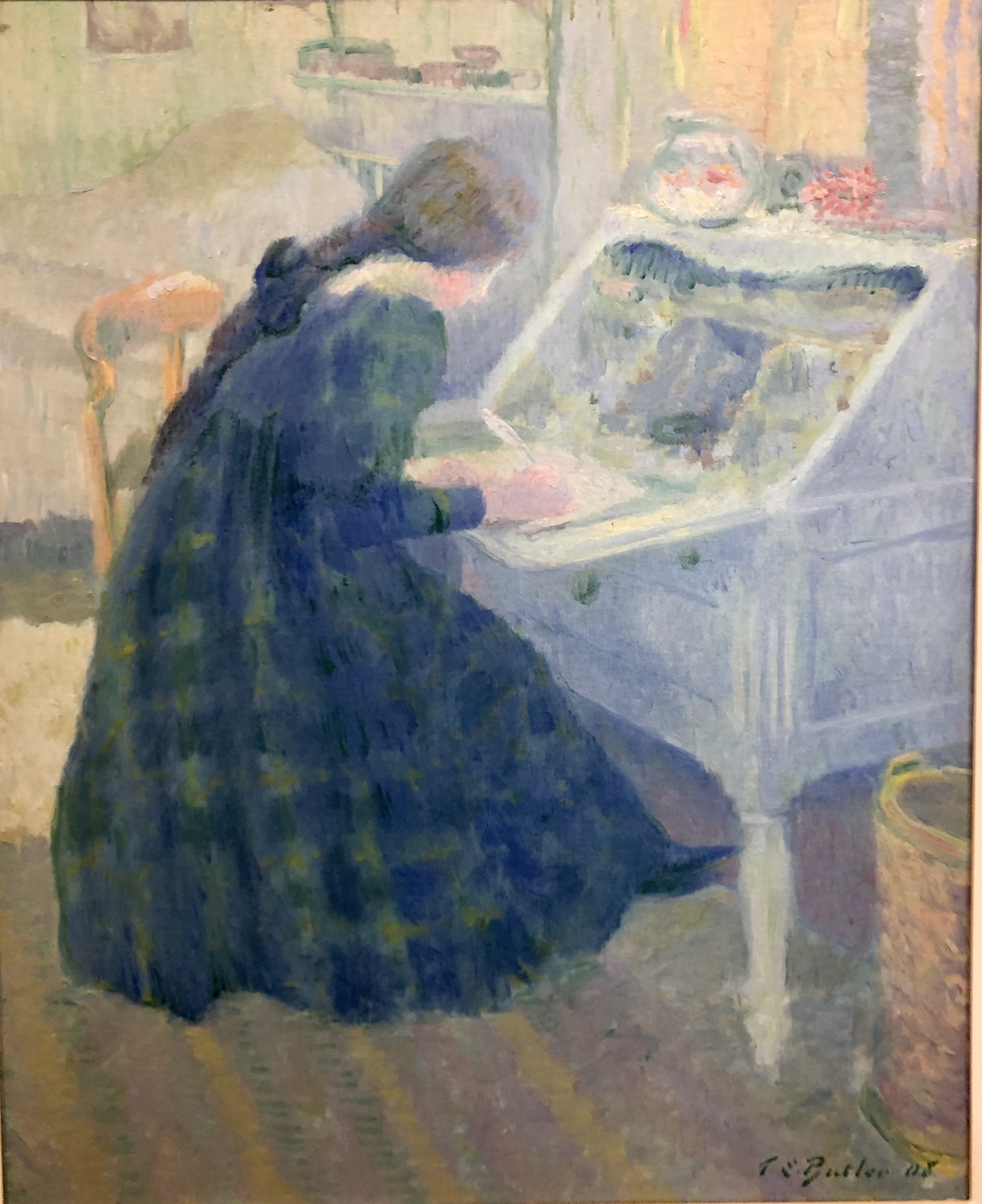 Theodore Earl Butler. Writing A Letter, 1908.