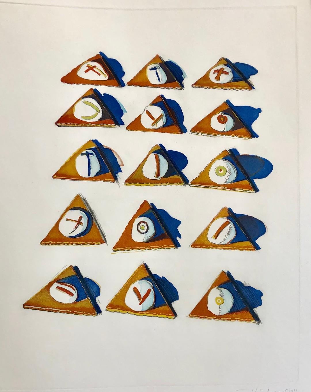 Wayne Thiebaud. Triangle Thins, 1971.