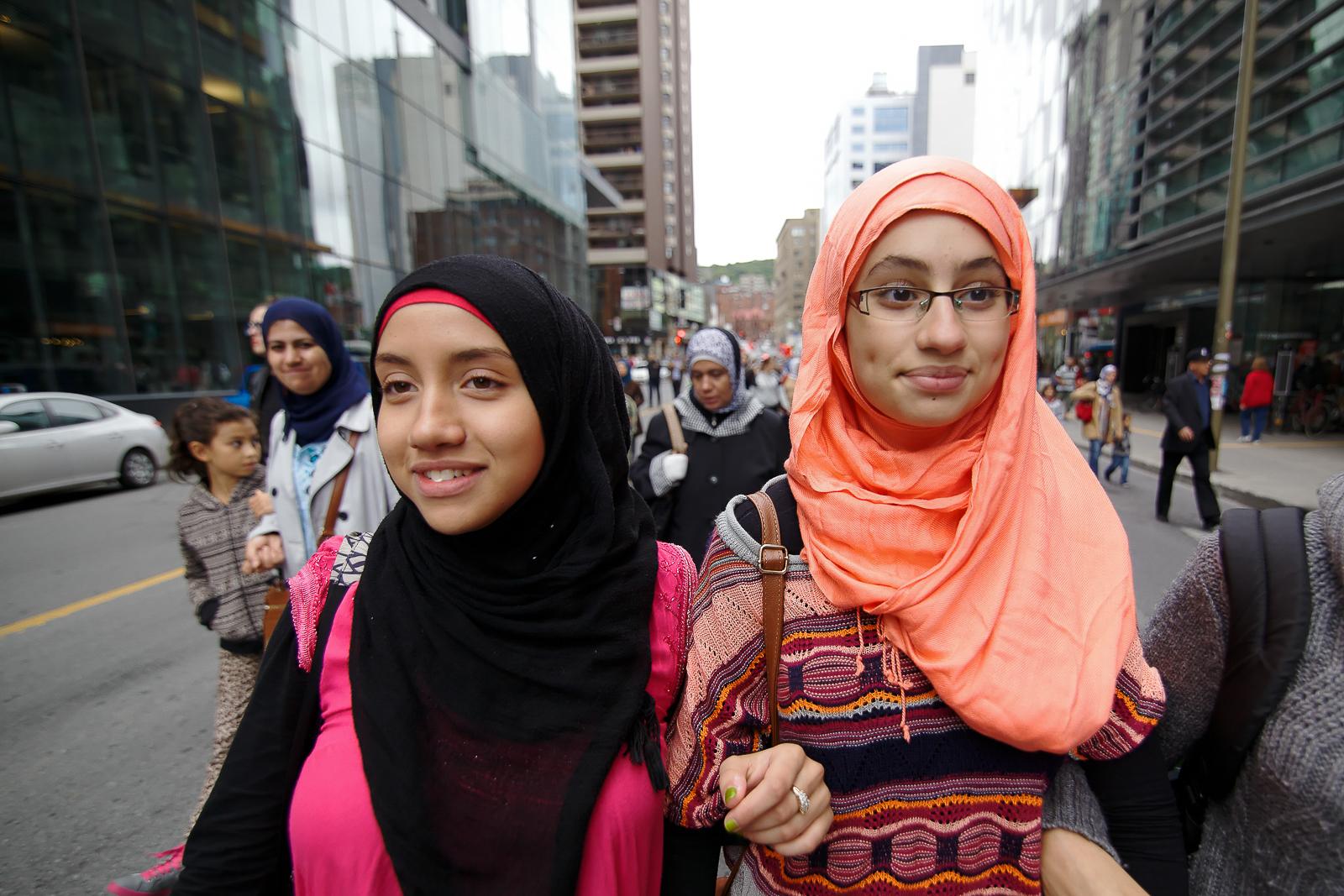 Manifestation à Montréal contre la Charte des valeurs québécoises, 2013