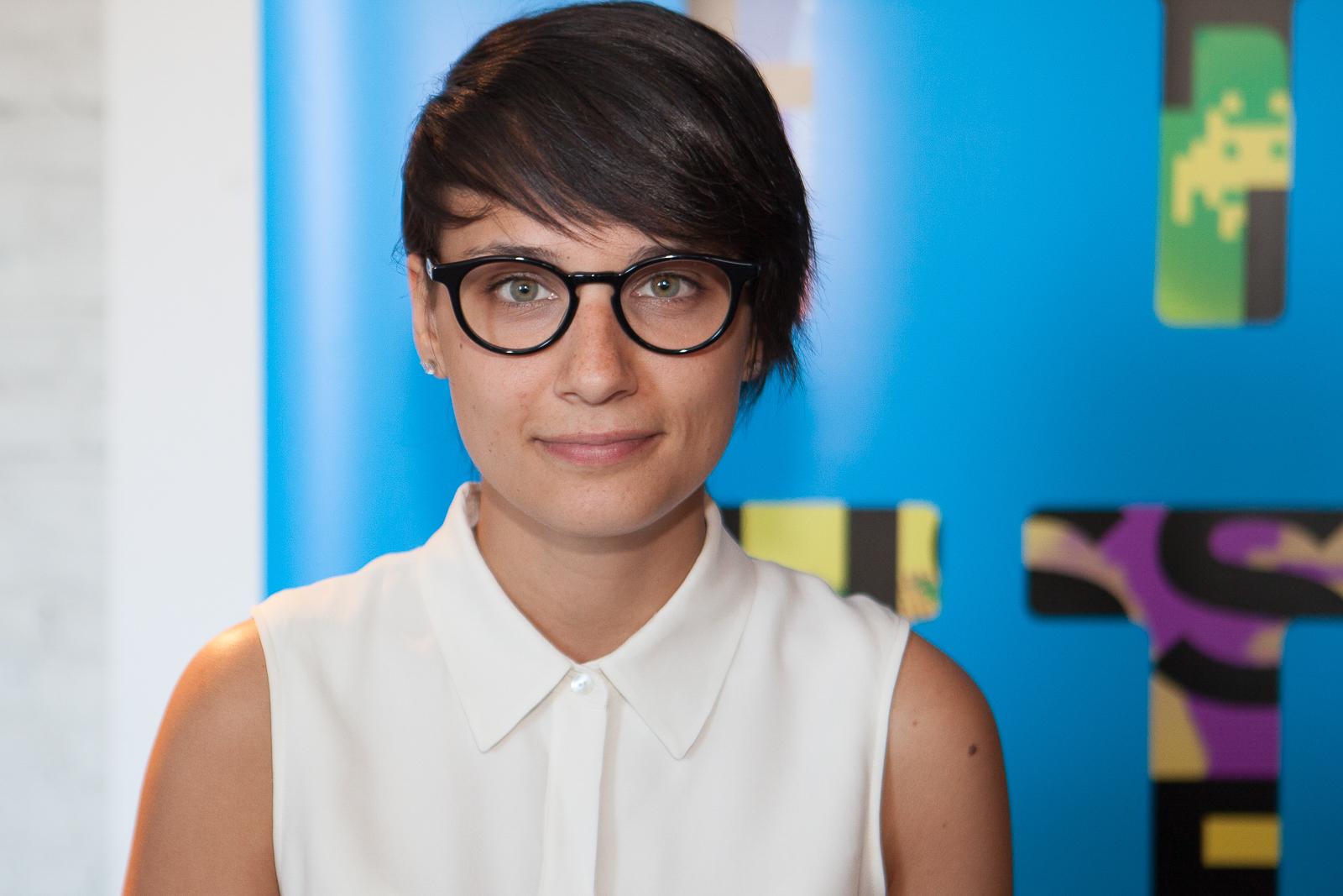 Chloé Robichaud lors du lancement de Sarah préfère la course, Cinema Imperial, Montreal, 2013