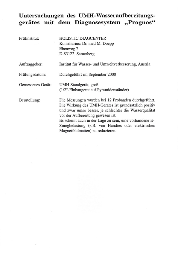 Dr. Doepp, Prognossystem, 2000