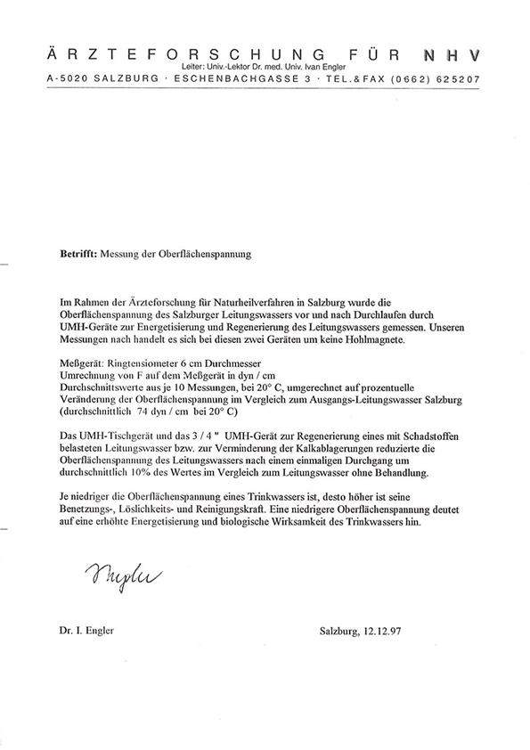 Dr. Engler, Oberflaechenspannung, 1997