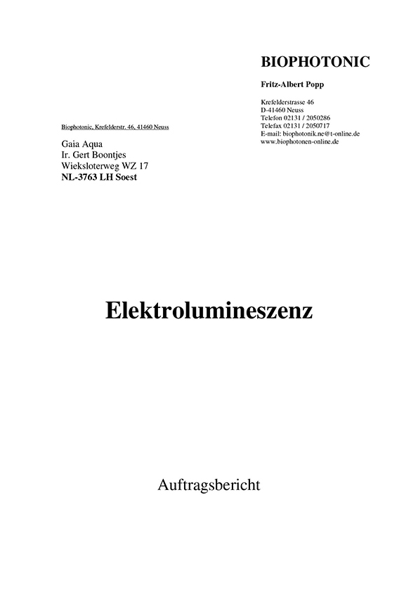 Dr. Popp, Elektrolumineszenz, 2004
