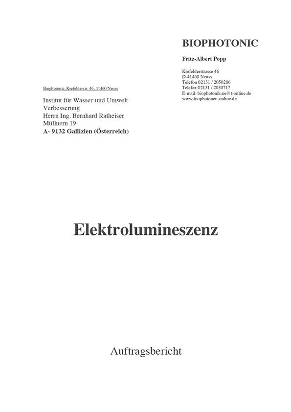 Dr. Popp, UV-Elektrolumineszenz, 2003