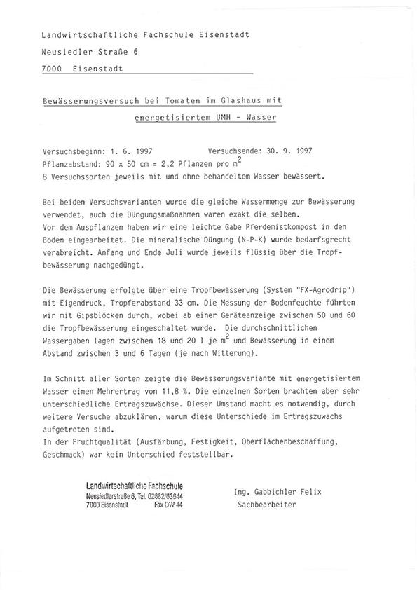 Landwirtschaftliche Fachschule Eisenstadt, 1997
