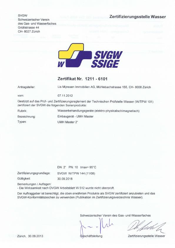 SVGW-Zertifikat