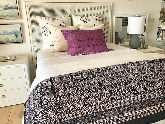 Add some happy to your bedroom this spring...affordable and beautiful blockprints for the win!!